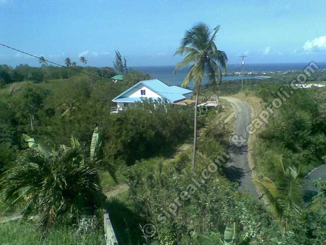 House from nearby hill